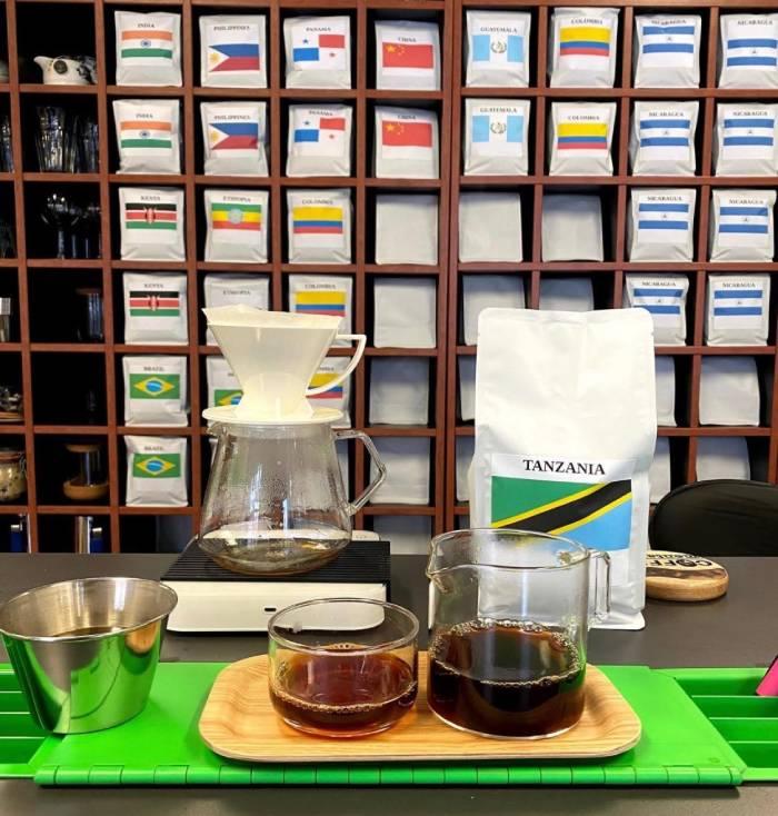 Coffee tasting at Coffee Mentality, East Brisbane